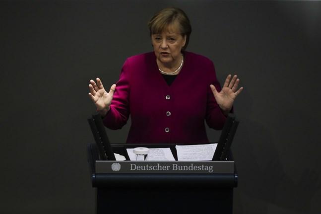 Tysklands förbundskansler Angela Merkel i torsdags.