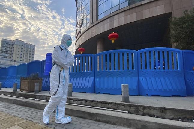 Ett WHO-team befann sig i kinesiska Wuhan några veckor under januari och februari för att spåra coronavirusets ursprung. Arkivbild.