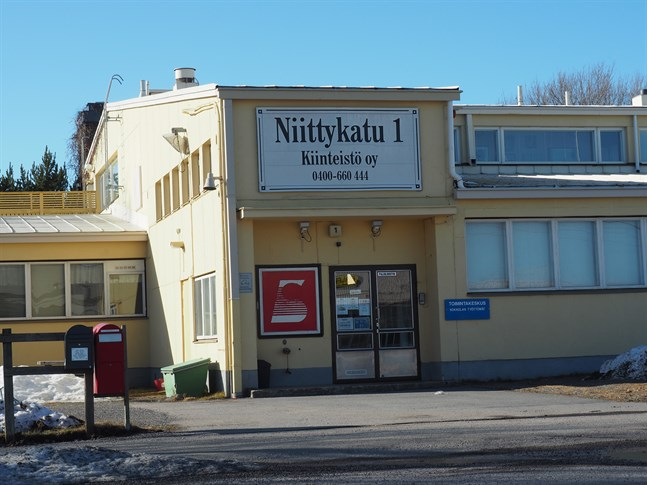 Kokkolan Työttömät lokal på Ängsgatan 1 i Karleby.