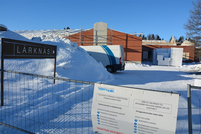 Byggandet av nya Lärknäs, som inleddes i fjol, är en stor investering för Korsnäs.