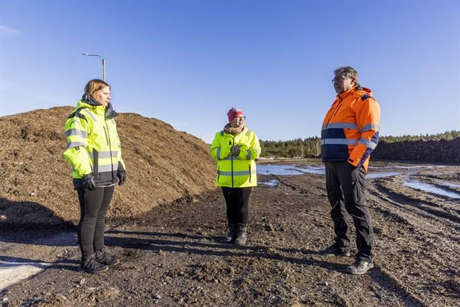Heidi Kangasluoma, Leila Roininen på Vasa stad och Vesa Lehtivuori på Stormossen ser flera fördelar med projektet.