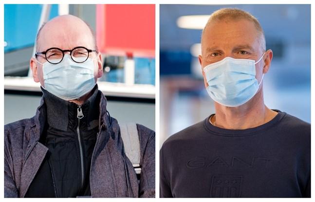 Vasa stads ledande överläkare Heikki Kaukoranta och Vasa sjukvårdsdistrikts chefsöverläkare Peter Nieminen.