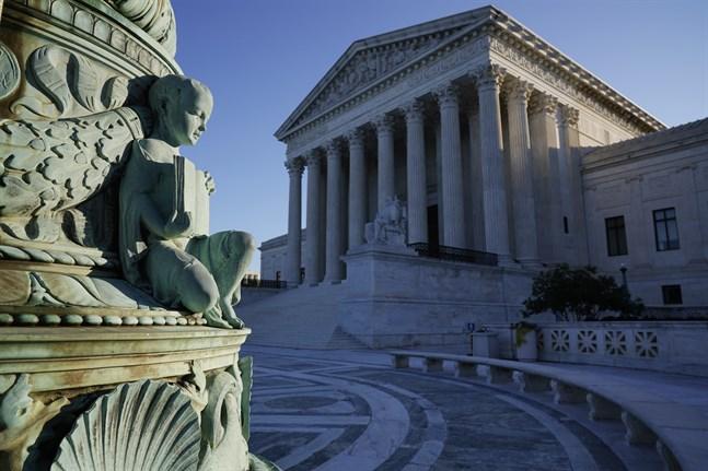 USA:s högsta domstol i Washington. Arkivbild.