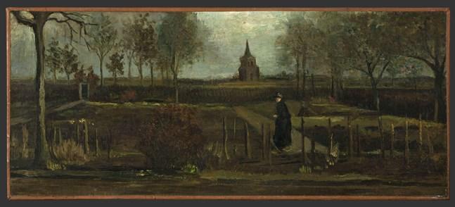 """Lentetuin"" av Vincent van Gogh (1884)."
