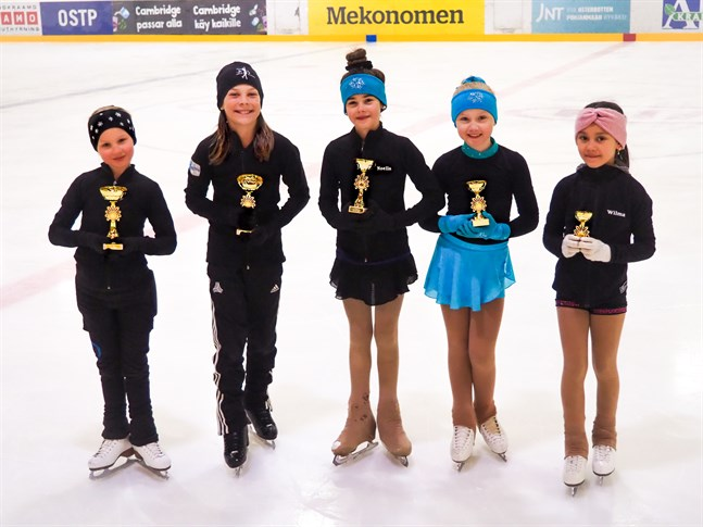 Emmi Rintala, Mica Storholm, Noella Syla, Ronja Brännbacka och Wilma Paalanen har varit i elden för Jeppis Skating.