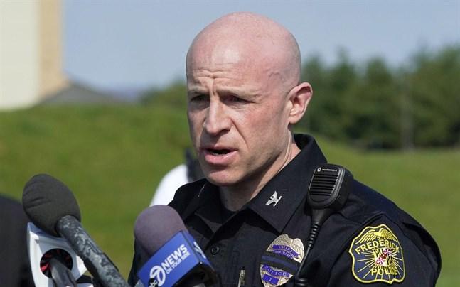 Polischef Jason Lando i Frederick i delstaten Maryland.