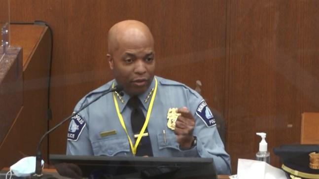 Medaria Arradondo, chef för poliskåren i Minneapolis och tidigare chef till den dråpåtalade polisen Derek Chauvin.