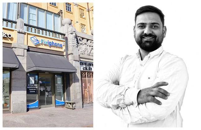 Vasa är en fin stad med stor potential, säger Umeåbon Ismat Husseini. Han hoppas att fler företag hittar dit och satsar på centrum. Själv öppnar han butik på Hovrättsesplanaden i maj.