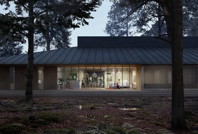 Illustrerande bild på den nya Lagmansgården som byggs i Jakobstad.