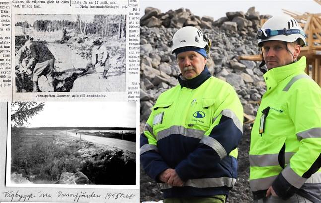 Med en blick i arkivet och ett besök till Sundströms entreprenad i Vassor kan vi försöka jämföra de båda vägbyggena.