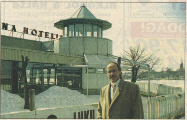 Hotell Kristina bytte i går ägare. Ett nytt bolag med delägarna Fjalar Stoor och Tony Mangs är ny ägare. VD blir konsult Alf Mangs, ovan.