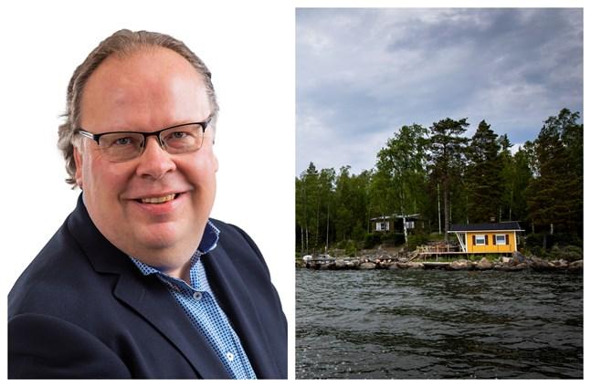 För tillfället är utbudet inte stort, men vi är hela tiden på värderingsbesök och förbereder oss för att ta in stugor till försäljning, säger mäklaren Lars-Johan Backman.