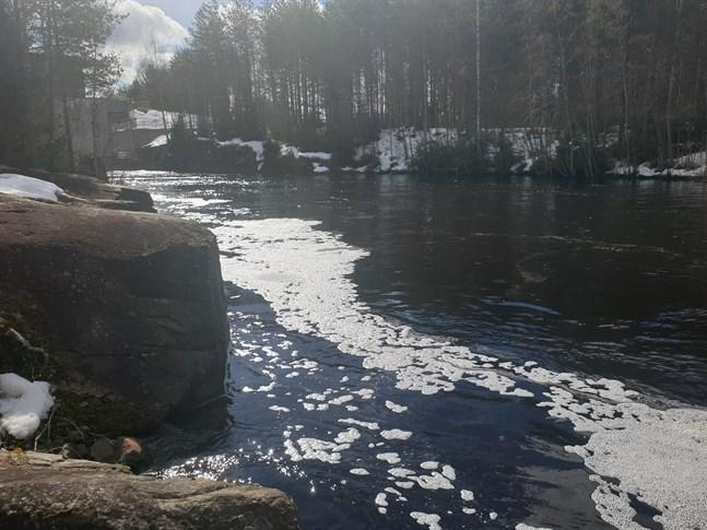 Vårflödet i Kattilakoski i Esse å.
