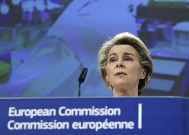 EU-kommissionens ordförande Ursula von der Leyen. Arkivbild.