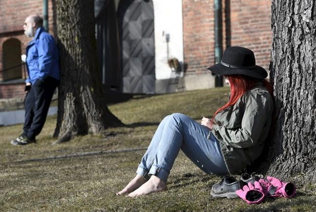Så här såg det ut i Åbo i slutet av mars. I helgen och i början av nästa vecka verkar det bli varmt och soligt även i Österbotten.