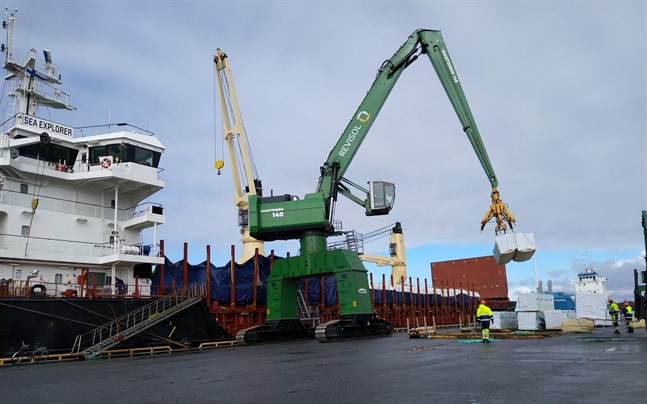 Fartyget Sea Explorer, under cypriotisk flagg, med destination Casablanca i Marocko lastades i Kaskö hamn i slutet av förra veckan.
