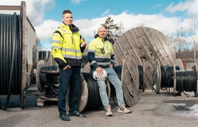 Mika Alatalo, vd för Nordic Electro Power och Jussi Kempus, en av grundarna och delägarna, är glada över satsningen i norra Sverige.