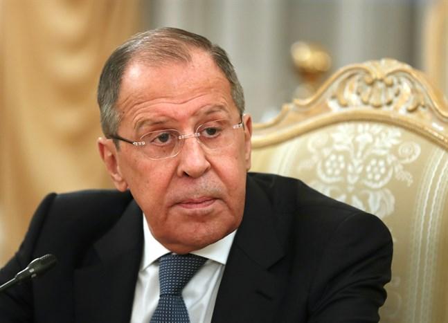 Rysslands utrikesminister Sergej Lavrov meddelar att tio amerikanska diplomater uppmanas lämna Ryssland. Arkivbild.