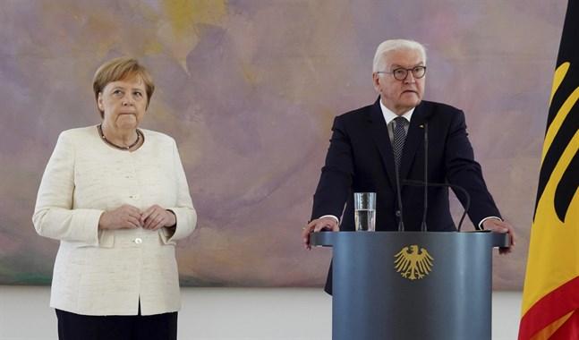 Tysklands förbundskansler Angela Merkel och president Frank-Walter Steinmeier. Arkivbild.