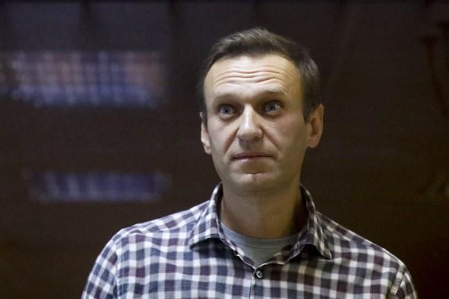 Den ryske oppositionspolitikern Aleksej Navalnyj i domstol i Moskva den 20 februari.