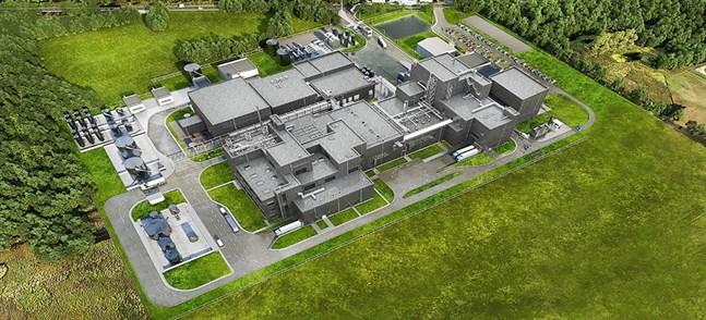 Så här ska den bli, den fabrik för katodmaterial som Johnson Matthey bygger i Konin i Polen. Den i Vasa ska bli lite större.
