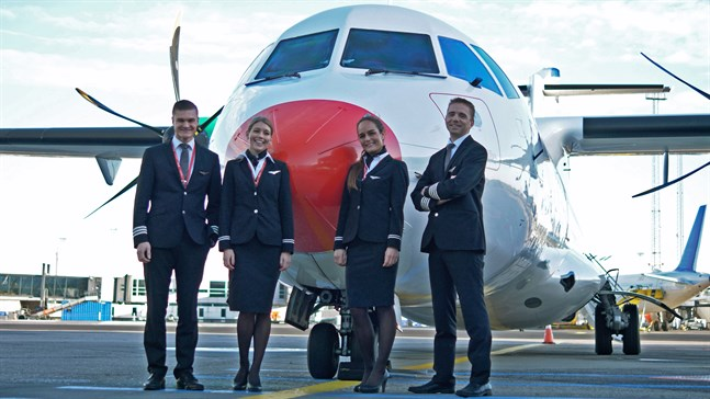 Med ATR 42 startade danska DAT trafiken mellan Kajana och Helsingfors.
