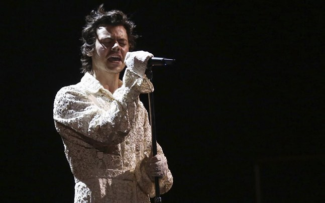 Harry Styles under förra årets upplaga av Brit Awards.