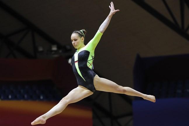 Sarah Voss under VM 2018 - i den gamla dräkten. Arkivbild.