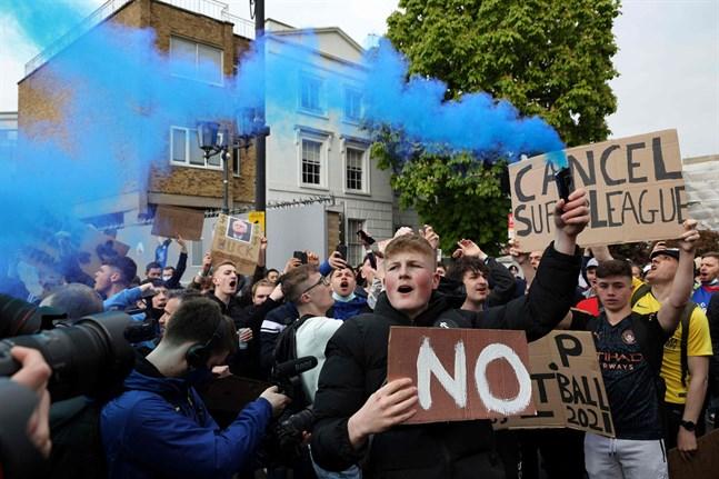 Chelseas och andra klubbars fans fick som de ville, planerna på en europeisk superliga lades ner.