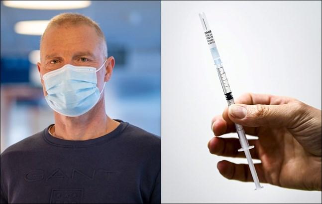 Peter Nieminen hoppas att siffrorna fortsätter att vara låga. Nu vaccineras alla Vasabor över 16 år.