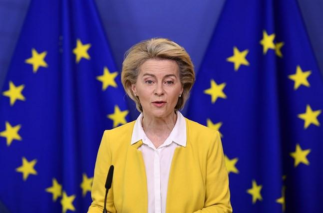 EU-kommissionens ordförande Ursula von der Leyen vill se besökare från USA. Arkivbild.