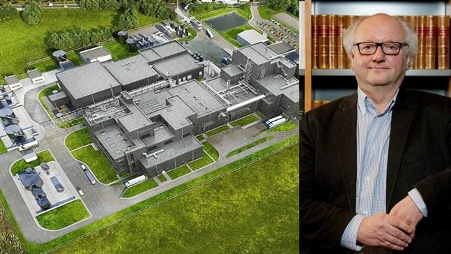 """Olav """"Joffi"""" Eklund gratulerar Vasa till katodfabriken som, enligt planen, ska stå klar år 2024."""