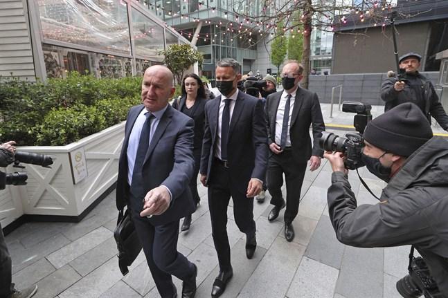 Ryan Giggs framträdde i rätten i Manchester på onsdagen.