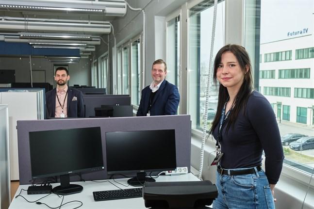 Markus Nylund, Pekka Liedes och Victoria Bäckström ska lösa it-problem för kunder i hela Norden.