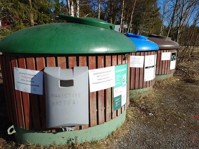 Denna Rinki-ekopunkten kommer att avlägsnas från den gamla Öja-market tomten på markägarens begäran.