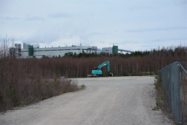 Revisol ska arrendera en industritomt för sin nya anläggning. Tomten finns sydväst om Metsä Boards fabrik.