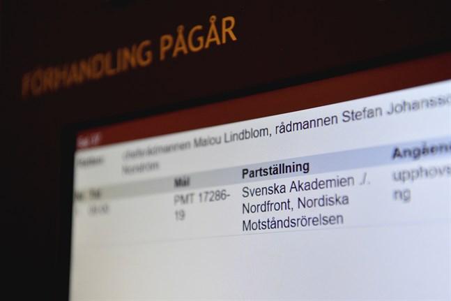 Svenska Akademien stämde tidigare i år Nordiska motståndsrörelsen och deras nätsajt Nordfront för brott mot det så kallade klassikerskyddet. Arkivbild.