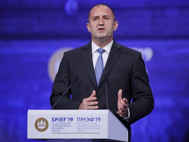 Bulgariens president Rumen Radev. Arkivbild.