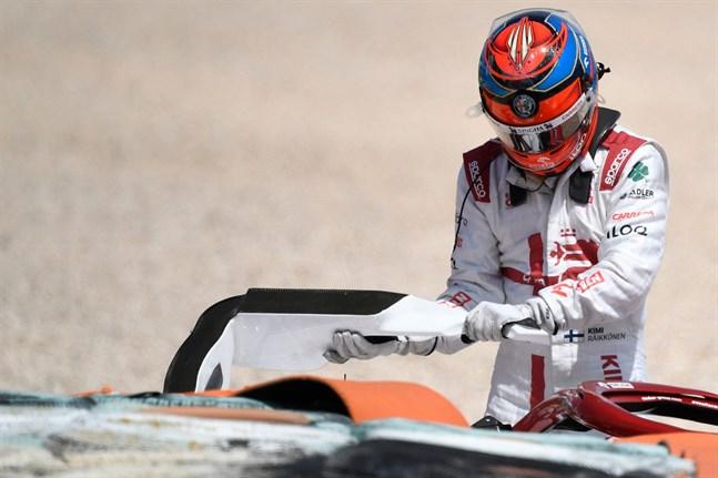 Kimi Räikkönens helg i Portugal slutade i besvikelse.