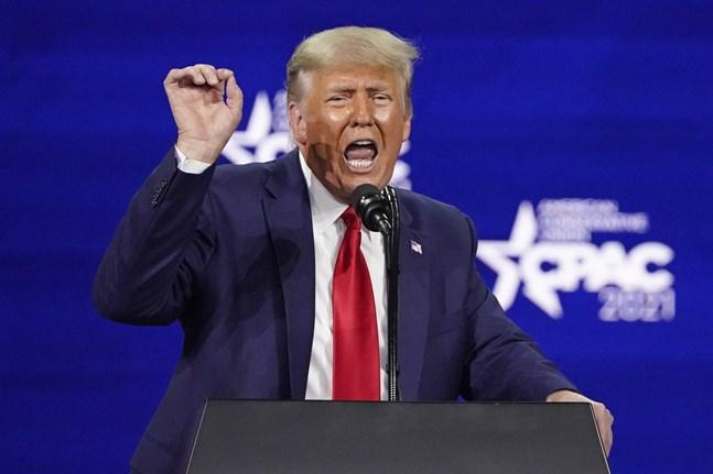 USA:s tidigare president Donald Trump. Bilden är från hans framträdande på den konservativa CPAC-konferensen i slutet av februari.