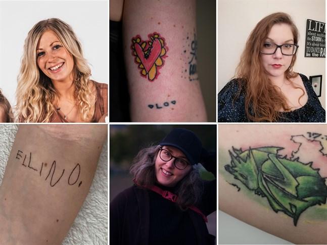 Johanna Yrjans, Elin Willows och Annette Sjöskog är några av mammorna i Österbotten som delar med sig av sina tatueringar i artikeln.
