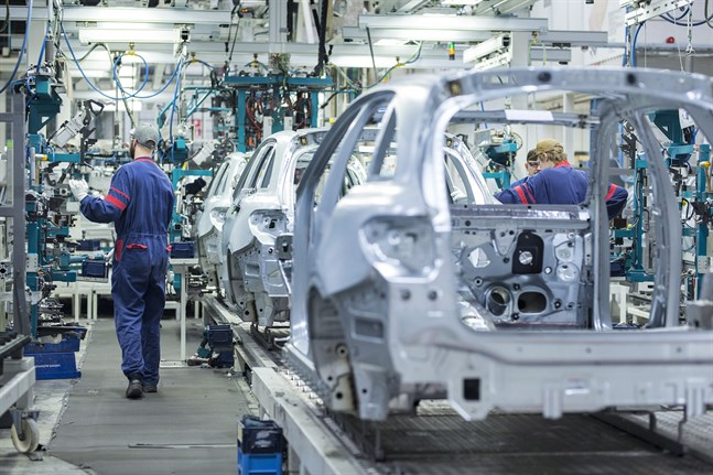 Batterifabriken i Nystad byggs i anslutning till Valmet Automotives bilfabrik.