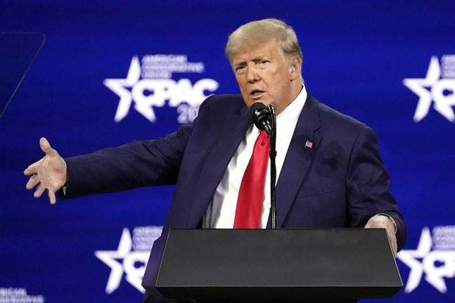 USA:s före detta president Donald Trump, fotograferad i februari.
