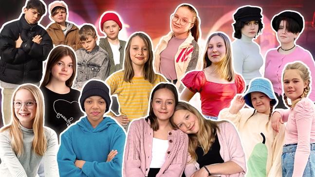 Alla MGP-finalister presenteras i direktsändning på onsdag kväll klockan 19.00. Lokala artister från både Jakobstad, Nykarleby och Vasa finns med i listan.