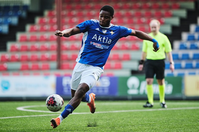 Emmanuel Igboeri fick till ett tröstmål för Vasa IFK.