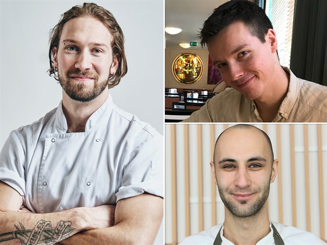 Simon Selin, Jonathan Slotte och Alex Kallträsk är alla tre med i semifinalen i årets upplaga av Årets kock.