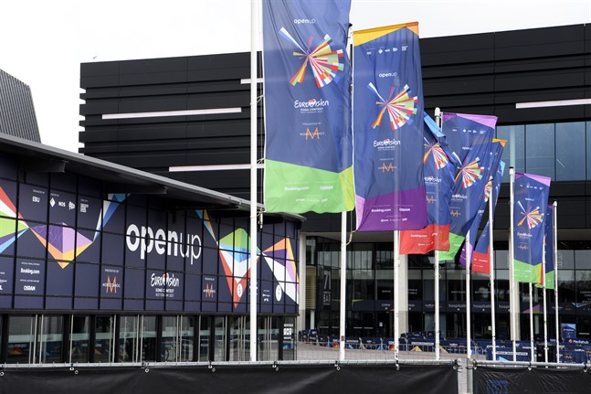 Ahoy Arena i Rotterdam, där Eurovision Song Contest hålls 2021. Semifinalerna går 18 och 20 maj, och finalen 22 maj.