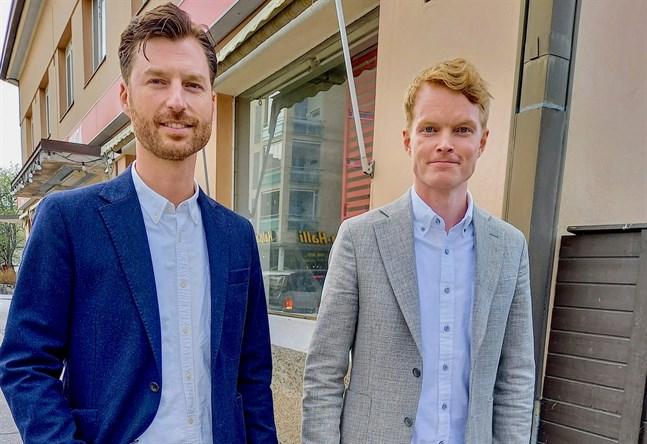 """Jens Rasmussen och Rabbe Tiainen är grundare av helst, arkitektbyrån som ska planera höghuset """" Bostads ab Concordiaparken""""."""