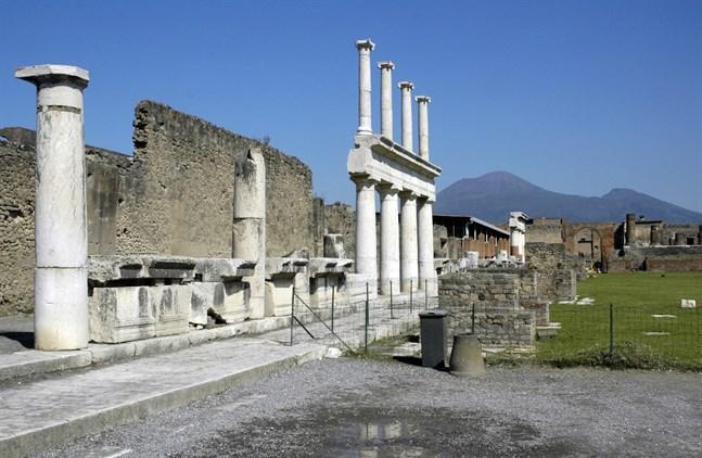 Sex stulna fresker har återlämnats till den arkeologiska parken i Pompeji. Arkivbild.