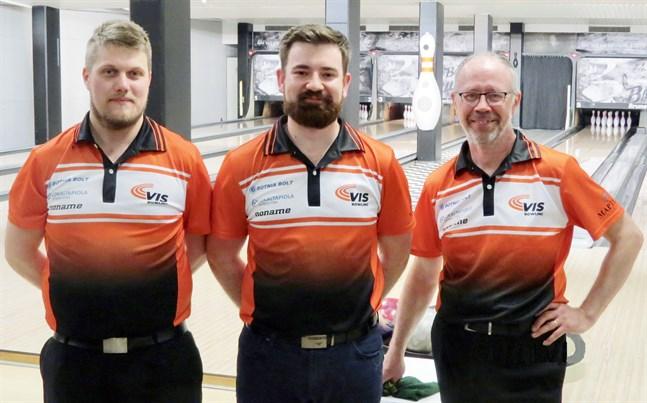 Guldgossarna Rolf Riddar, Emil Storm och Thomas Storm.